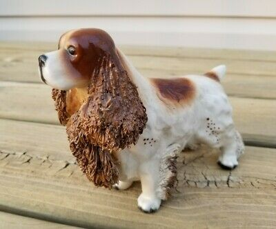 CALF. JANE CALLENDER or HARDIE ARNITA SPRINGER SPANIEL CERAMIC DOG spaghetti