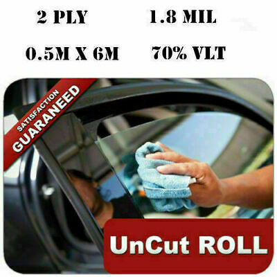 2PLY Car Black Car Home Glass Window Tint Film and shade Roll 50cm*6M 70% VLT Q