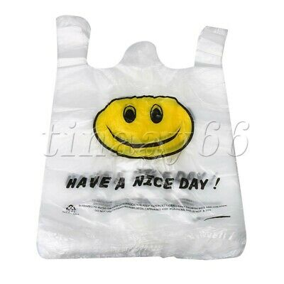 100PCS 30x45cm Large Plastic Singlet Grocery Shopping Checkout Bags