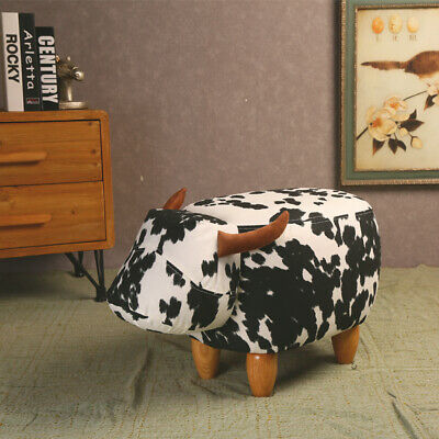 """Animal Cow Round Chair Seat Stool Cover Kids Furniture Protector 11.4-12/"""""""