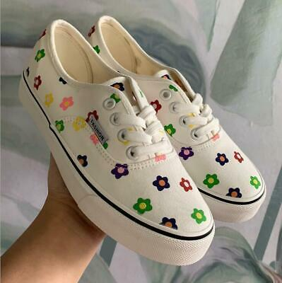 Womens Canvas Shoes Loafers Pumps Casual Flat Trainers Sneakers Shoes Lace up