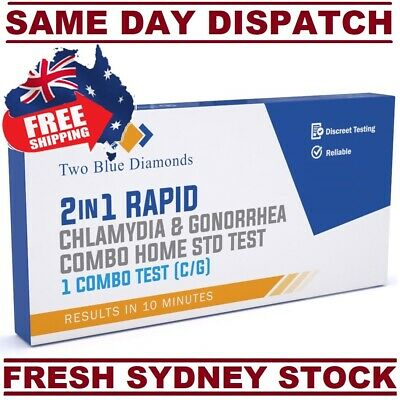 STD STI Chlamydia Gonorrhea Home Test Kit COMBO Unisex RAPID & PRECISE 2 in 1 AU