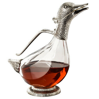 NEW Whitehill Silver Plated Duck Wine Decanter