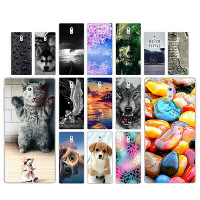 Clear Case For Nokia 3 Protective Soft TPU Silicone Phone Back Cover Stone Skins