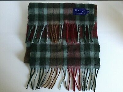 NEW! Ballantrae Edinburgh 100% Lambswool Tartan Scarf