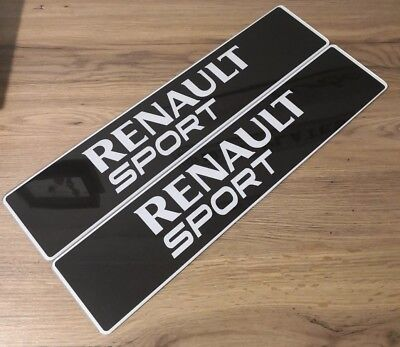 Pair Of Renault Sport Show Number Plates. Clio, Mégane, RS
