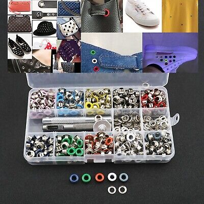 500pcs 5mm Hole 10 Colors Metal Eyelets for Shoes Clothes Canvas Crafts