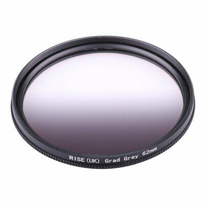 62mm Graduated Grey Color Gradient Neutral Density ND4 Filter for Cmera Lens