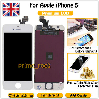 White For iPhone 5 Screen Replacement LCD Display Touch Digitizer Assembly