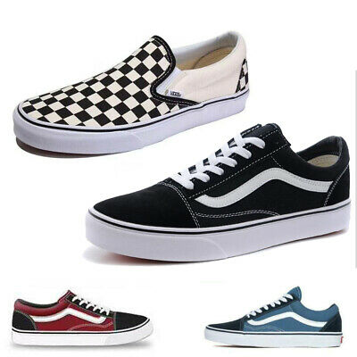 Women&Men Black Van S Old Skool Skate Shoes Classic Canvas Sneakers All Size New