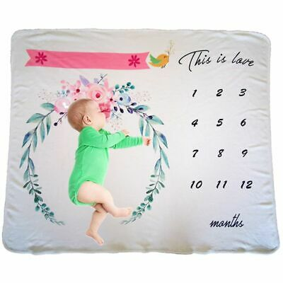 Newborn Photo Record Growth Blanket Baby Infants Boys Girls Photography Prop New