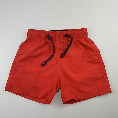Boys size 3, Emerson, red lightweight shorts / boardies, elasticated, GUC