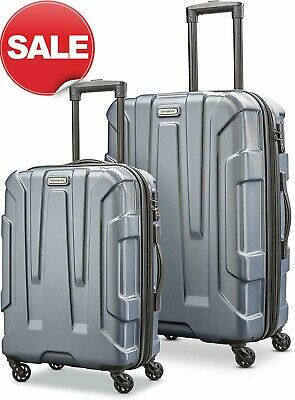 "Samsonite Centric 2 Piece Expandable Hardside Spinner Luggage Set 24"" 20"" Blue"