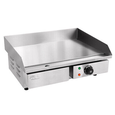5 Star Chef 3000W Thermomate Electric Griddle Grill Hot Plate - Stainless Steel