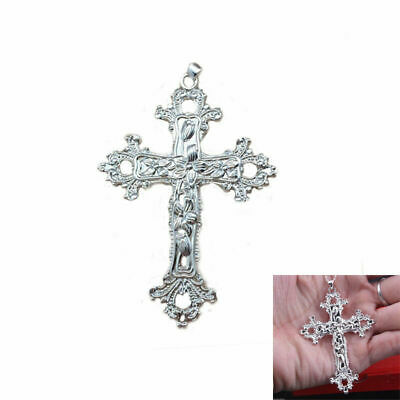 Women Jewelry Cool 925 Sterling Silver Cross Pendant for Necklace Chain UK Stock