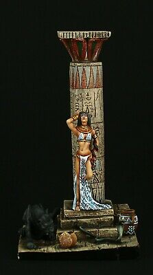 Tin soldier, Museum (TOP), Egyptian Princess and Panther, 54 mm, Ancient Egypt