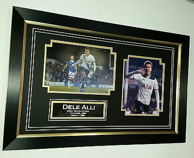 ** New Dele Alli of Tottenham Signed Photo Picture Autograph Display ***