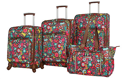e37eb17a23df NEW LILY BLOOM Under Seat Rolling Carry On Luggage - Multi - $52.09 ...
