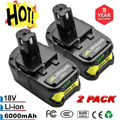 2X 18V 6.0Ah Li-Ion Battery for Ryobi ONE+ Plus P108 P107 P105 P109 Power Tools