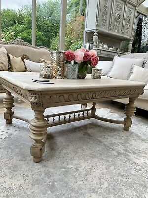 Very Large Carved Coffee Table Carved Oak Lions