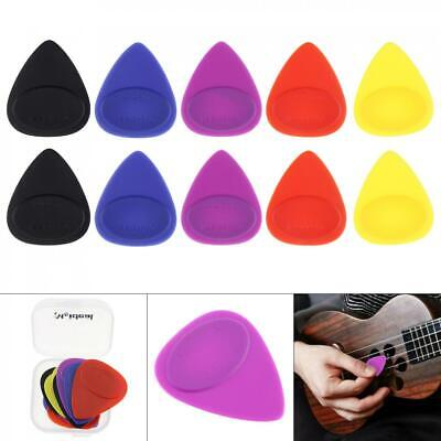 10pcs Acoustic Guitar Frosted Skidproof Picks Plectrums Mixed Size with Box New
