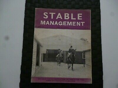Stable Management December 1970 Horse Pony Stoneacre Training Centre *Read*