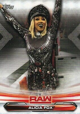 2019 Topps Wwe Raw Wrestling Trading Card, #3 Alicia Fox