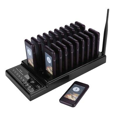 Wireless Paging Calling System 20 Restaurant Coaster Pager Queuing System FAST