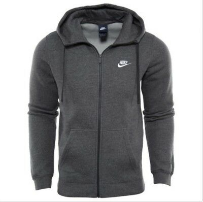 NIKE MEN S SPORTSWEAR CLUB SWOOSH FULL ZIP FLEECE HOODIE