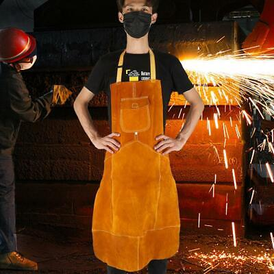 Welding Equipment Welder Heat Insulation Protection Cow Leather Apron Durable
