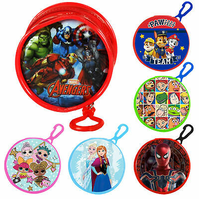 Children's Gift - Round Coin Wallet / Purse & Clip - PVC Front - Choose Design