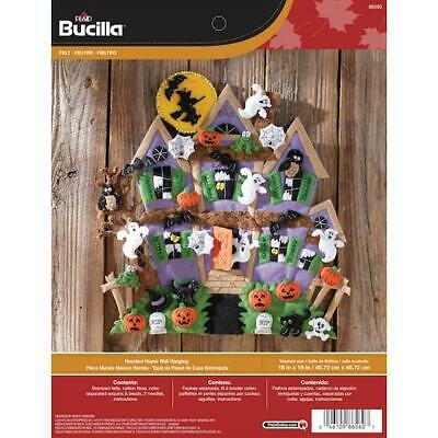 "Bucilla 18""x18"" Felt Applique Kit - Haunted House Wall Hanging"