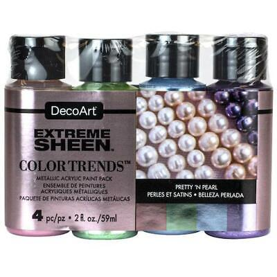 DecoArt Americana Extreme Sheen Acrylic Paints Value Pack 4pcs - Pretty Pearls