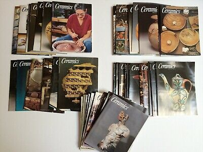 Large Lot 45 Issues Cermaics Monthly Magazine Back Issues 1998-2002