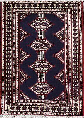 Balouch Afghan All-Over Geometric Oriental Area Rug Wool Hand-Knotted 2x3 Carpet