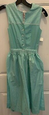 NWT Authentic LeRo GERMAN Octoberfest DRESS W/ Apron Drindl Vintage Festival XS