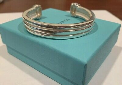 Tiffany & Co. Sterling Silver Atlas Cuff Bangle Bracelet