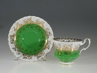 "Royal Albert ""Regal Series"" Green Tea Cup and Saucer, England"