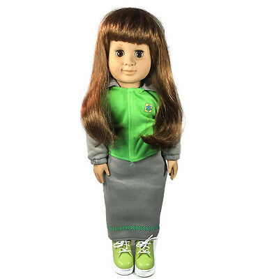 Our Generation Battat 1998 18 in Doll Brunette Sweat Shirt and Long Skirt