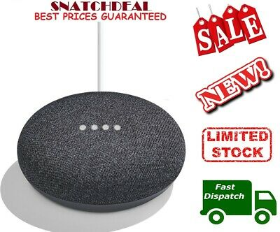 GOOGLE Home Mini Smart Assistant - Charcoal - New- SALE!!!!!