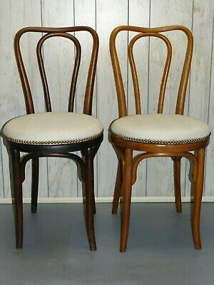 J & J Kohn Antique Bentwood Chairs Cafe Chair New Upholstery Nailhead Trim 1800s