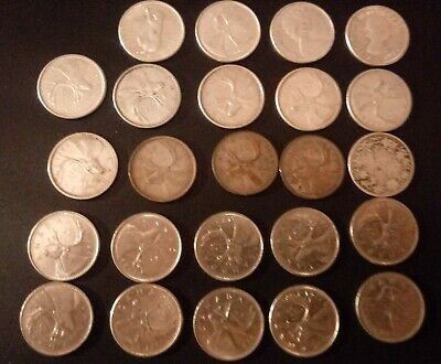Canadian Quarter Collection lot of 24 coins 14 silver all different