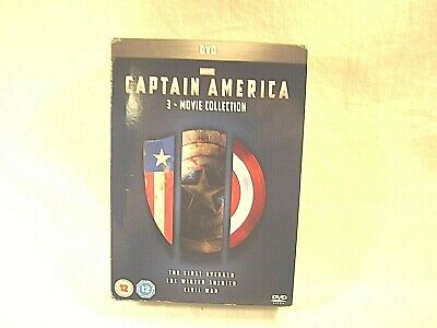 REGION 2 Captain America 3 movie Collection Disc Set Marvel for Foreign players!