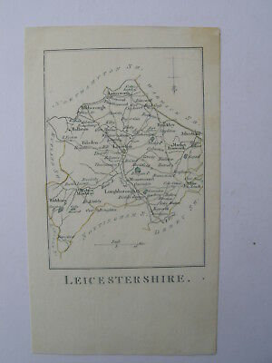 Map. Leicestershire. R Butters. Rare - Upside down. Genuine original. 1803.