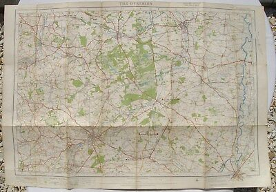 Vintage Ordnance Survey Map.No 46. The Dukeries. Collieries & Rly added. 1923.
