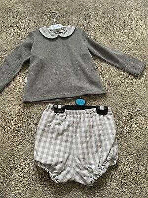 Babidu Grey Outfit Set Long Sleeves Age 36 Months