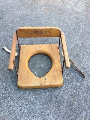 antique/vintage Hedstrom 1950's child's folding potty chair Oak Hill (USA).