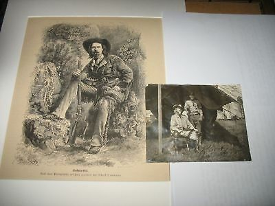 very rare BUFFALO BILL CODY WILD WEST SHOW PHOTO SIGNED 1900's ANTIQUE AUTOGRAPH