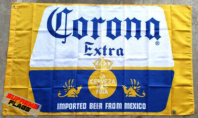 Corona Extra 3x5 ft Flag Banner Cerveza Imported Beer Mexico Man Cave