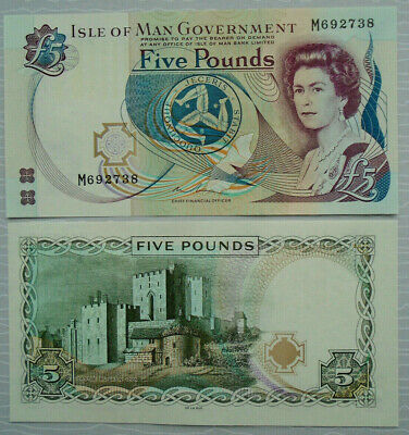 ISLE OF MAN  £5 Sign.Couch P-48a 2015 ND  *UNC* M 692738